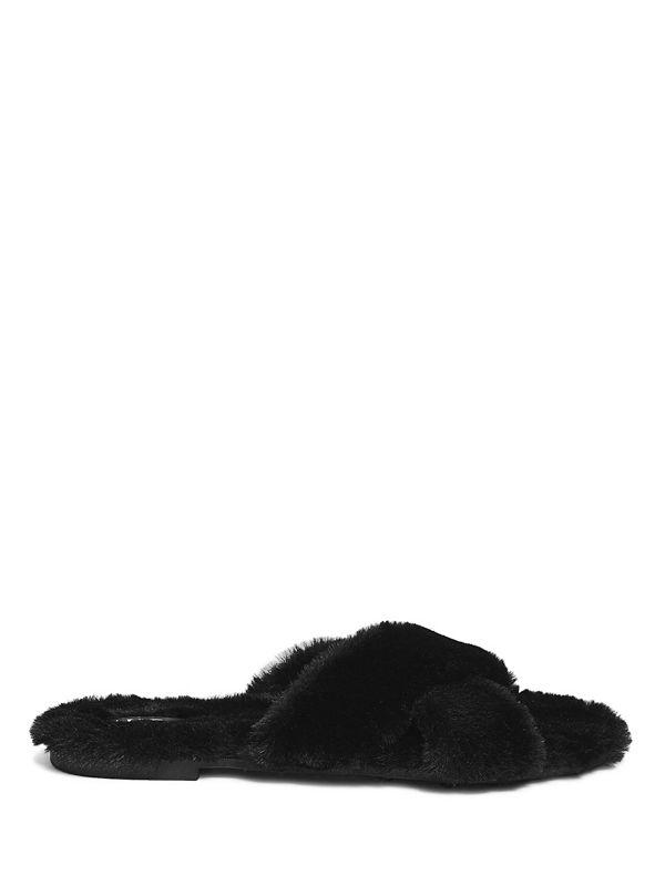 4ea89ea89d7 Katrin Faux-Fur Slide Sandals