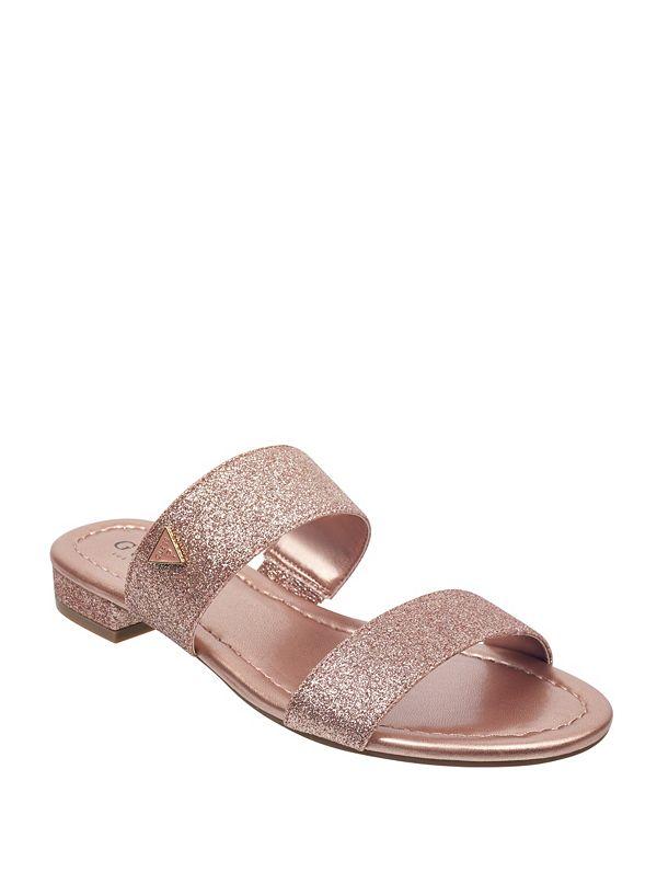 b2086f23133e9 Korine Glitter Double-Strap Slide Sandals