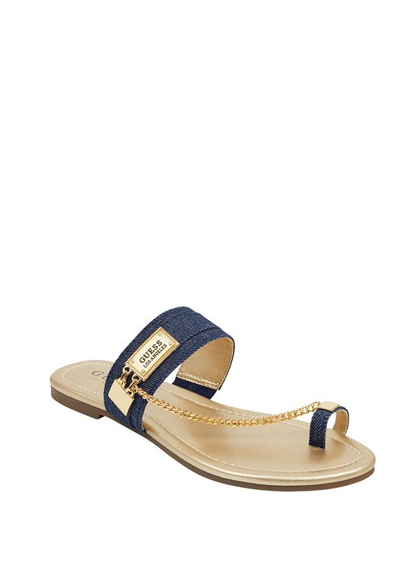 26e383ffbe29 Landen Denim Chain Sandals