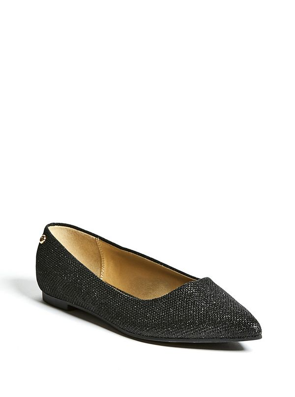 eeb95f618af Lillie Glitter Pointed-Toe Flats | GuessFactory.ca