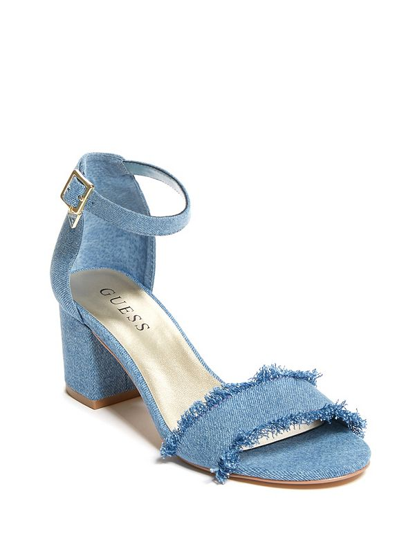 5e9333e8b89b Rita Denim Block-Heel Sandals