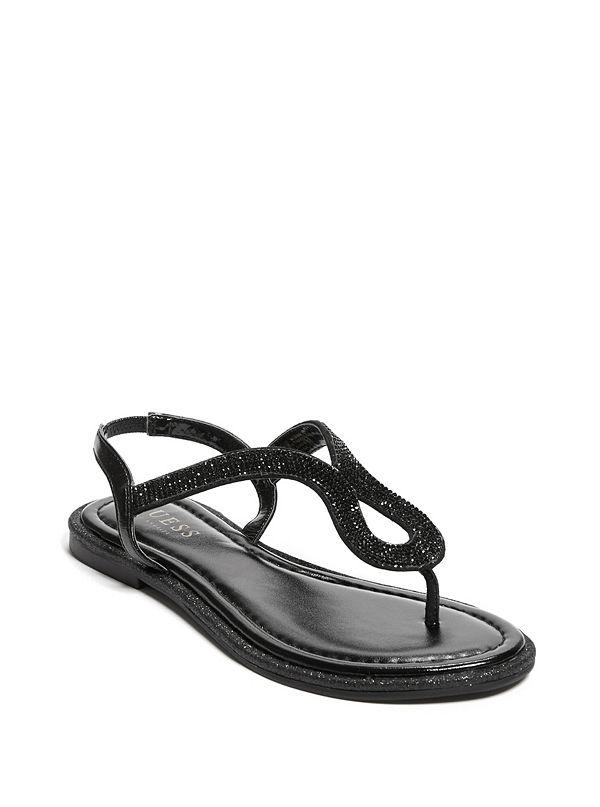 dbb31f0e7c8 Saxxy Rhinestone Glitter Sandals