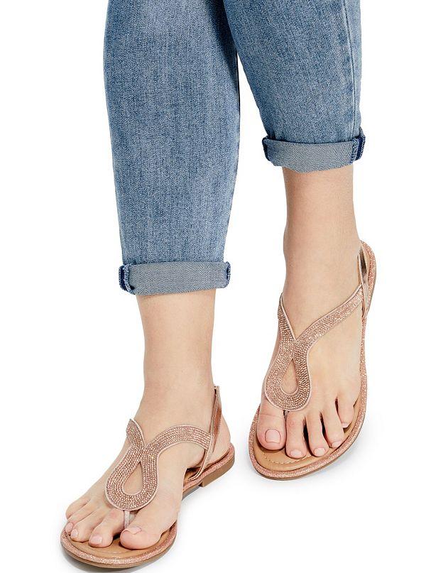 ad91784f714 Saxxy Rhinestone Glitter Sandals. GFSAXXY-ROSE-ALT4. GFSAXXY-ROSE.  GFSAXXY-ROSE-ALT1