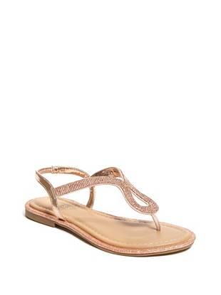19e7f1baee6 Saxxy Rhinestone Glitter Sandals