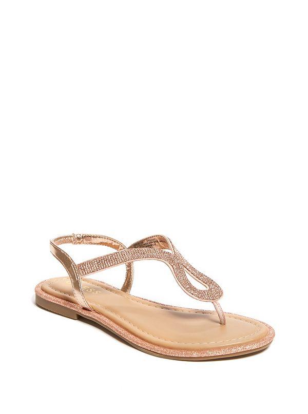 bb17127c8 Saxxy Rhinestone Glitter Sandals