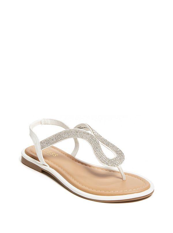 a16011d2a Saxxy Rhinestone Glitter Sandals