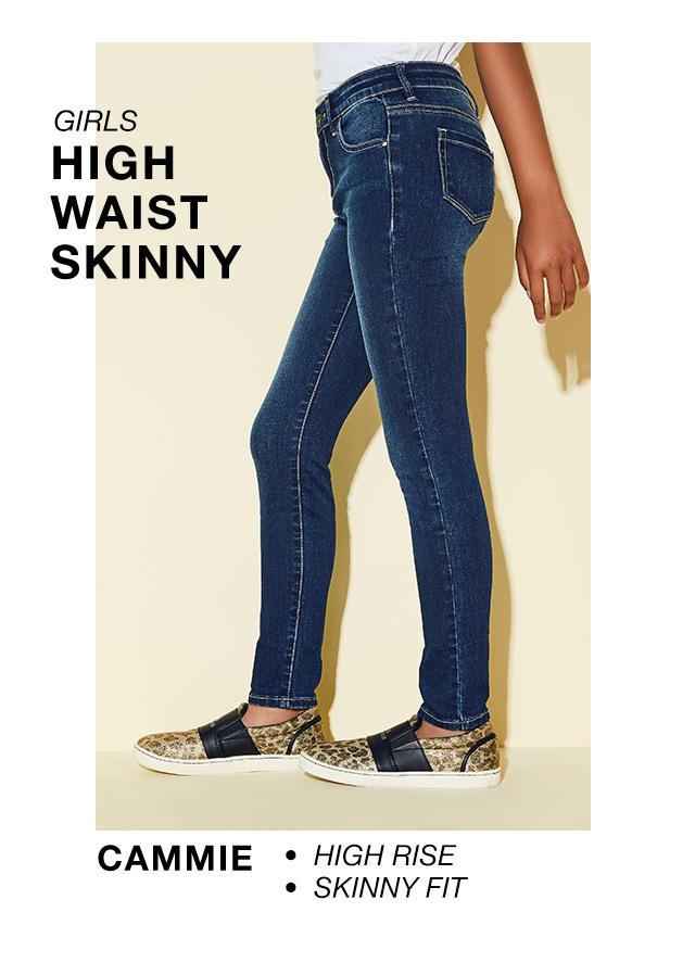 Girls High Waist Skinny: Cammie