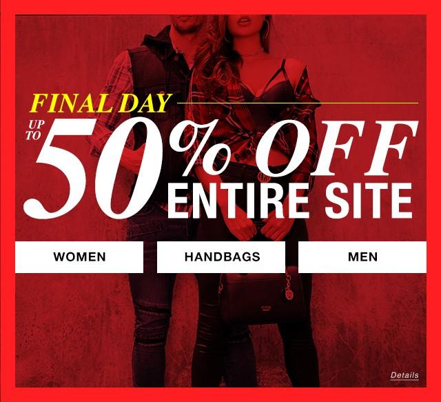 50% Off Entire Site