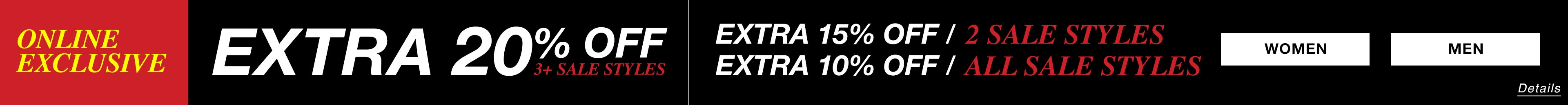 Extra 20% off when you buy 4 or more sale styles