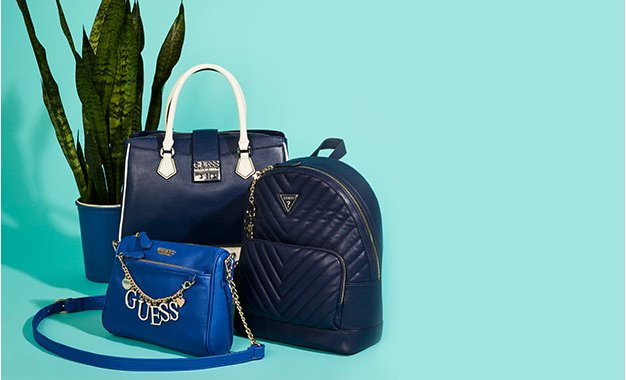 New in navy handbags from $39