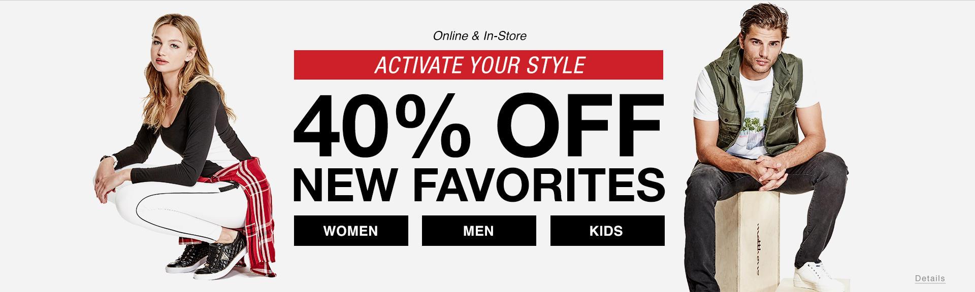 40% Off New Favorites