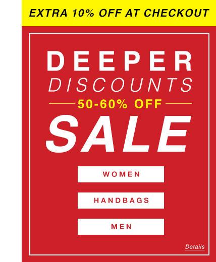 Deeper Discounts On Sale