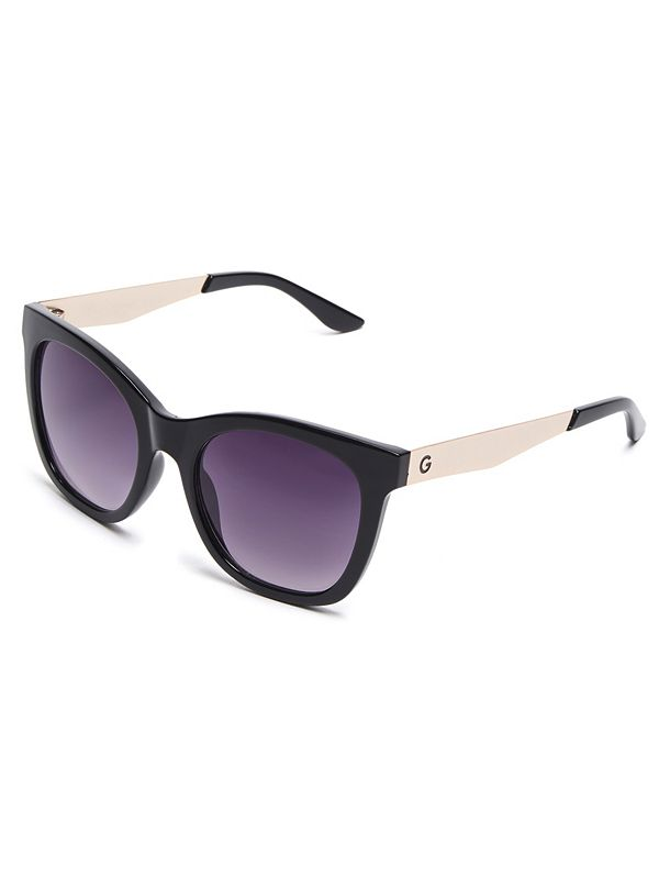 f13c3100a Plastic Square Mirrored Sunglasses | GbyGuess Canada