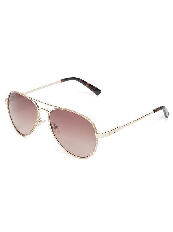 2083993186a9a Glitter Aviator Sunglasses