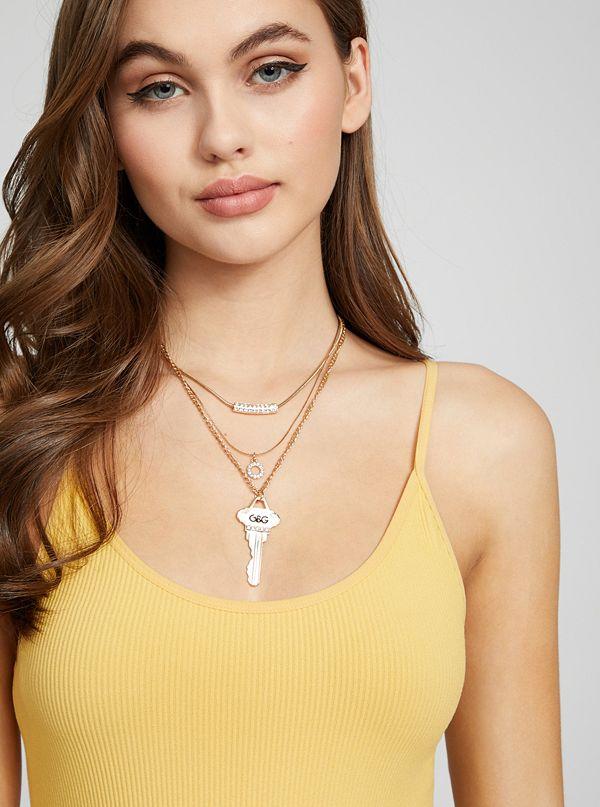 key necklace on model