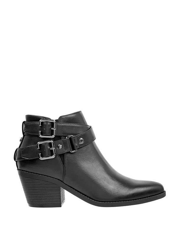 f53d0659d75 Del Ray Buckle Booties | GbyGuess.com