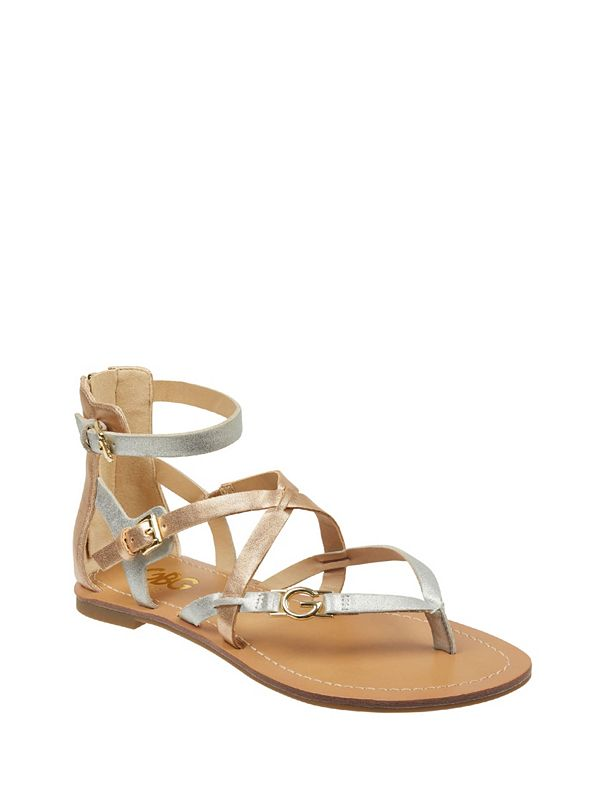 8a5a79c487b4 Harver Strappy Logo Sandals