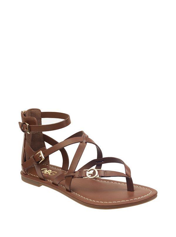 9d2f39f6200128 Harver Strappy Logo Sandals
