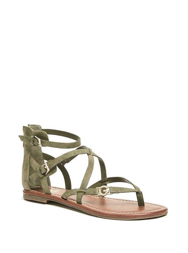 95c1bad2c566 Harver Strappy Logo Sandals