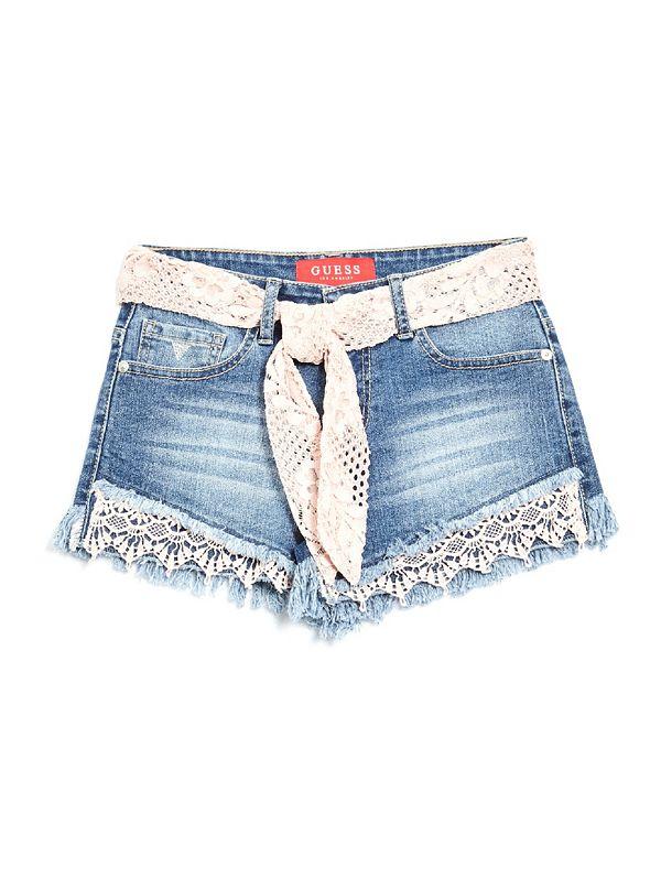 7829344de2 Violet Crochet-Hem Denim Shorts (7-16)