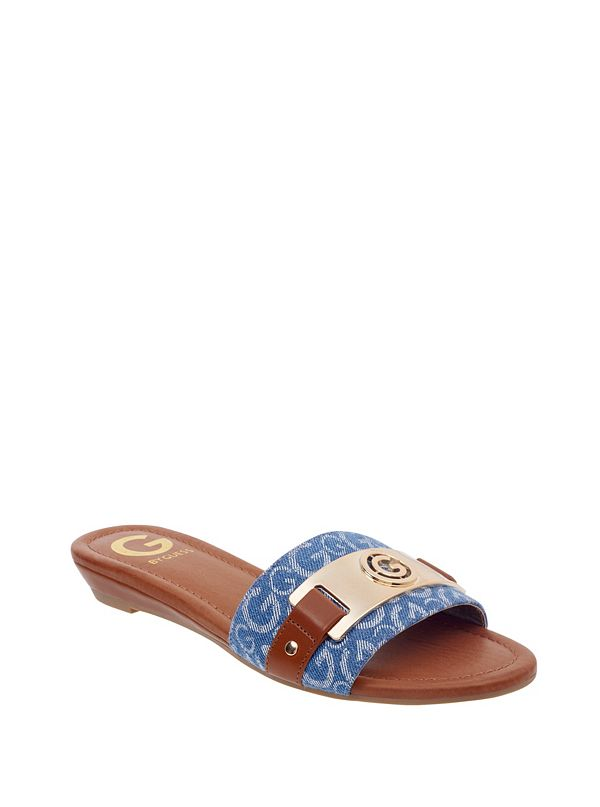 G by GUESS Footbed Slide Stones 708OTUdAvC