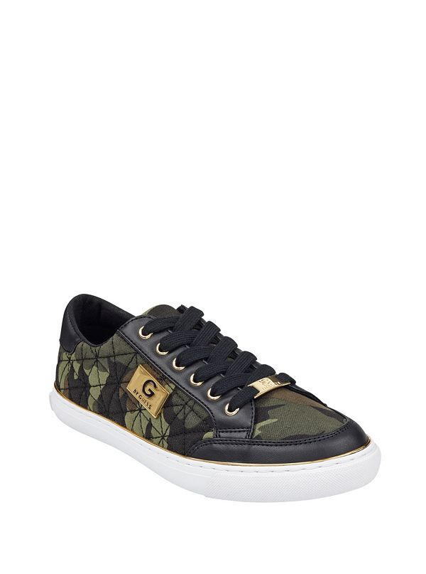 c1e25934f9bee Omerica Camo Quilted Sneakers | GbyGuess.com