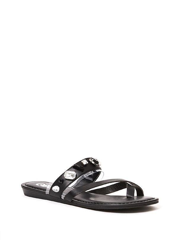 c9a1b9271 Pardi Rhinestone Slide Sandals