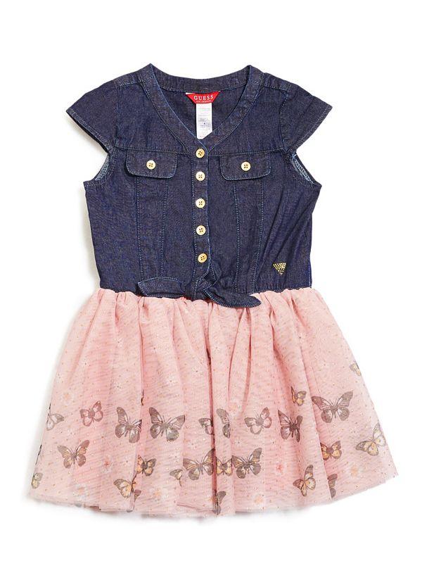 dc7a9b2d79 Penelope Chambray Two-Fer Dress (2-6)