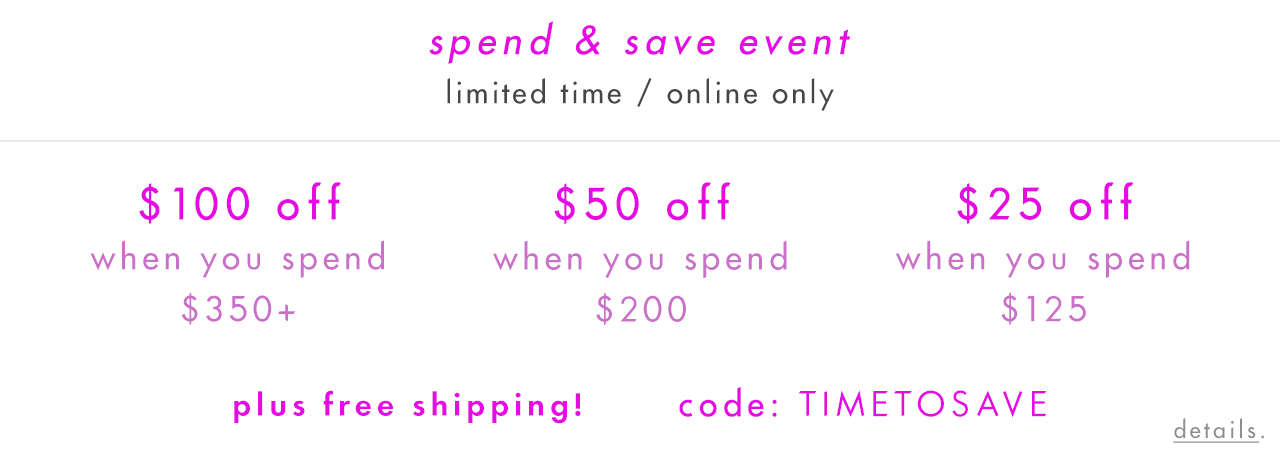 spend & save event