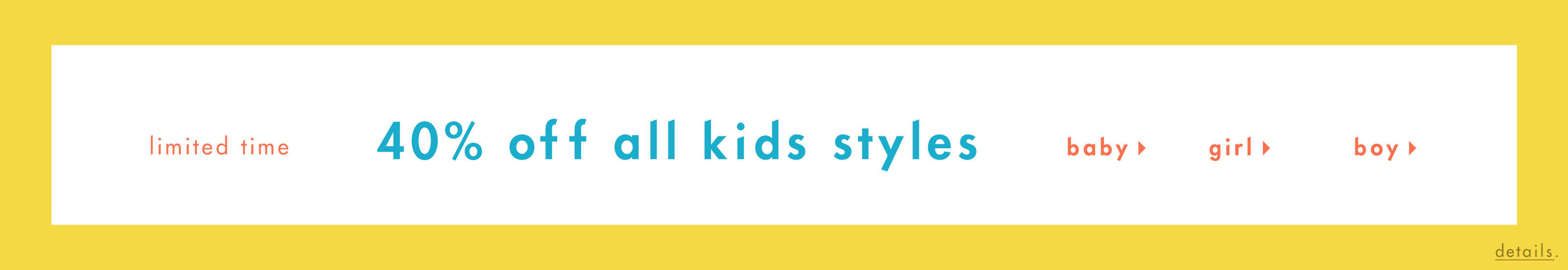 40 Off All Kids Styles
