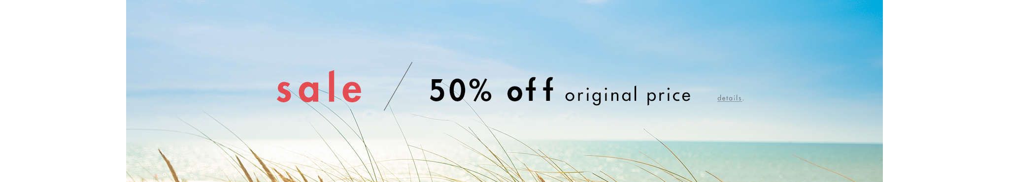 50% Off Original Price