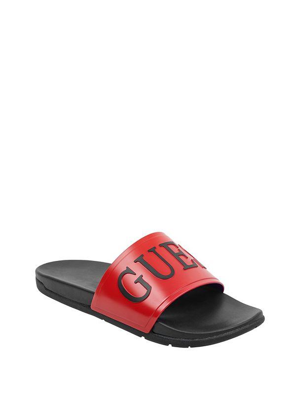 6f62d8ebd434 Deflino Logo Slide Sandals