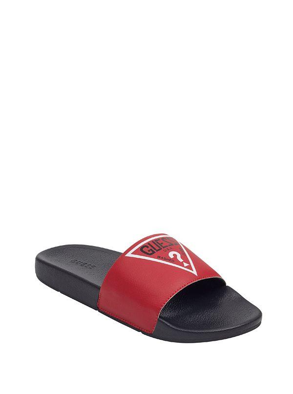 ac30b99726c6 Enelo Padded Logo Slide Sandals