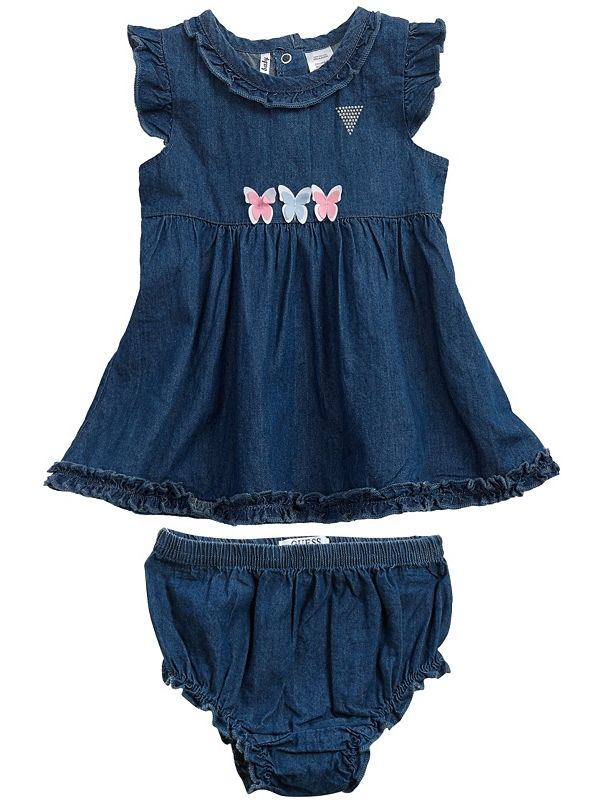 95aa72f33 Newborn Girl Melisa Ruffle Denim Dress (0-9M) | GuessFactory.com