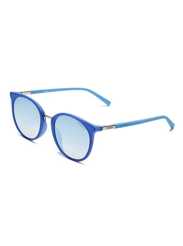 e34f7ce08 Eye Candy Round Metal Sunglasses | GUESS.com