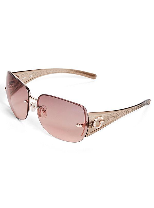 114048784 Rimless Shield Sunglasses | GuessFactory.com