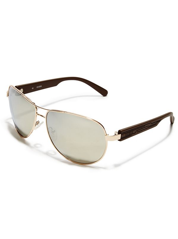 3be139ad1cf6 GU 6675 M · Sale · Textured-Arm Aviator Sunglasses