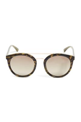 Kara Round Plastic Sunglasses GUESS.com