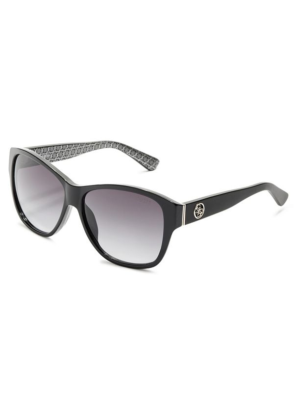 roxanne plastic square sunglasses guess