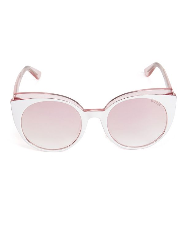 e358f09196 Two-Tone Cat Eye Sunglasses