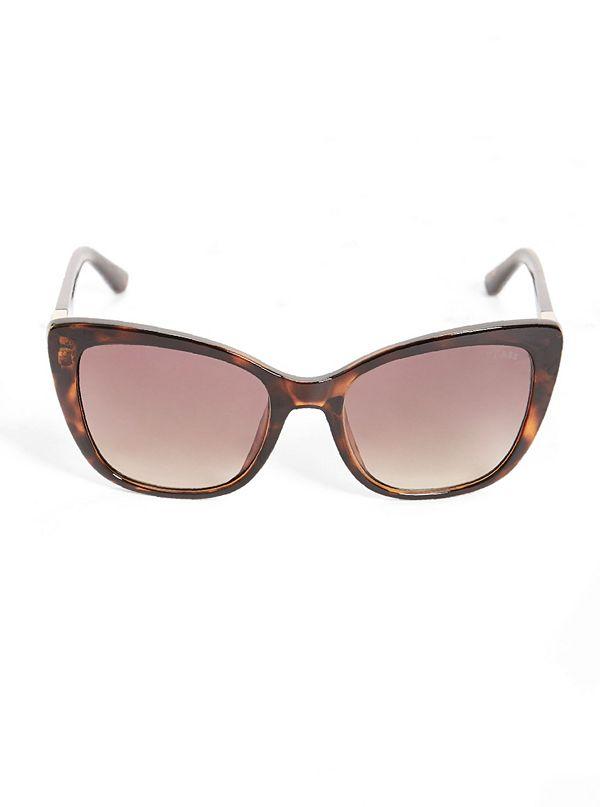 5c86533e0ac6c Lunettes de soleil style œil-de-chat à logo triangulaire