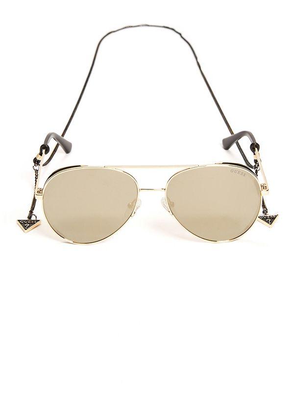 f8e33e157c Aviator Sunglasses with Chain