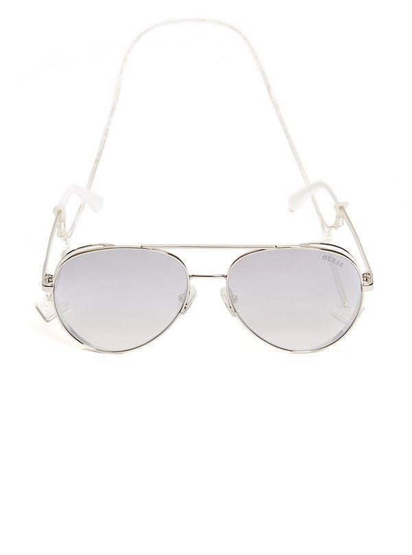 2cd75fda143 Aviator Sunglasses with Chain
