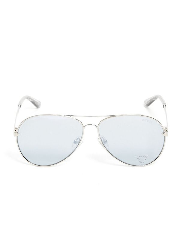 6e5bddd9db90f Embellished Aviator Sunglasses