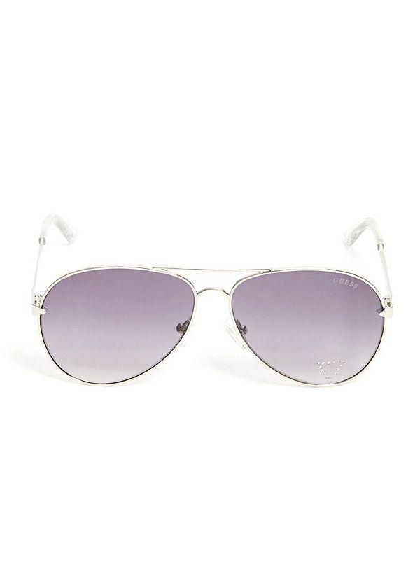 c6bb95b7ec Embellished Aviator Sunglasses
