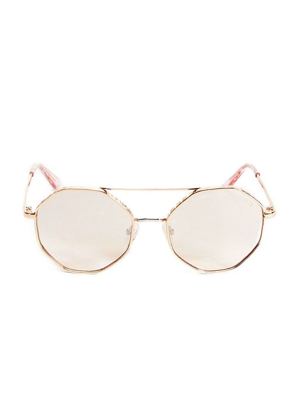dd4589dea338 Geo-Shaped Round Sunglasses