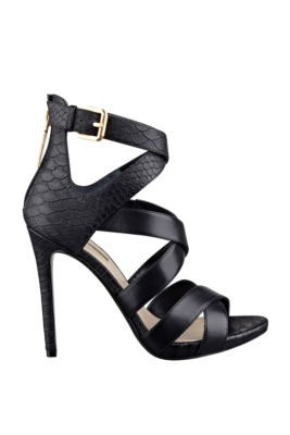 Womens Shoes GUESS Abby Black Leather