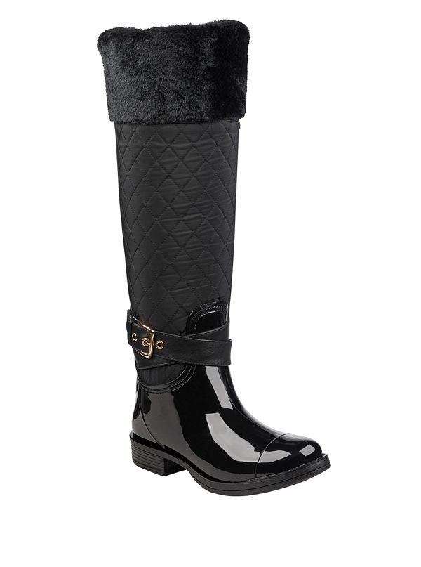 78f9d597fc07 Cora Fur-Lined Rain Boots