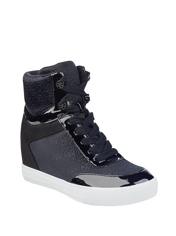 daylana logo hightop wedge sneakers guesscom