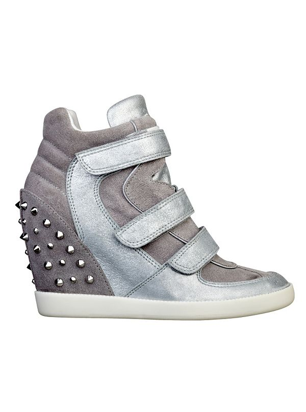 hisalyn studded wedge sneakers guesscom